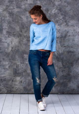 Блуза с запахом цвета ледника