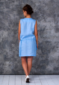 Dress-blue-with-pocket-bag-3