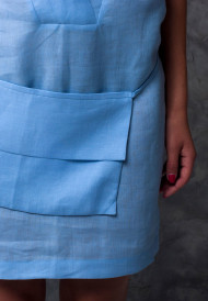 Dress-blue-with-pocket-bag-7