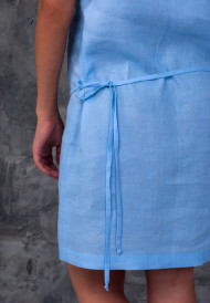 Dress-blue-with-pocket-bag-8