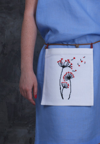 Съемный карман-сумка Любит, не любит...