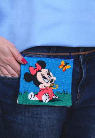 вышитый съемный карман Мики