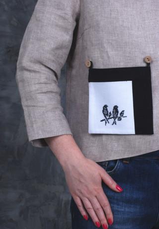Съемный вышитый карман Чижики