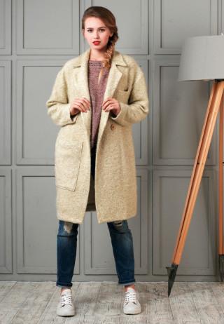 Coat mohair 1 320x462 - Пальто шерстяное оверсайз с накладным карманом