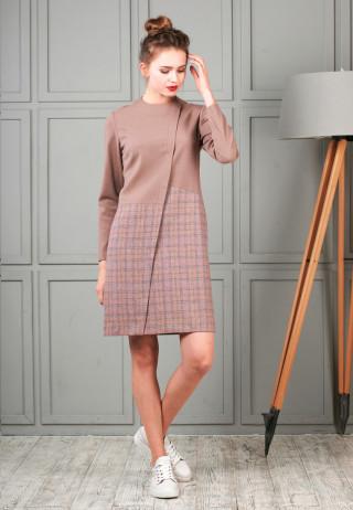 Dress pink 3 320x462 - Платье-футляр шерстяное комбинированное
