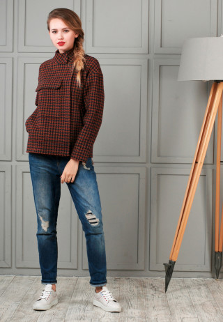 Jacket 1 320x462 - Жакет шерстяной гусиная лапка