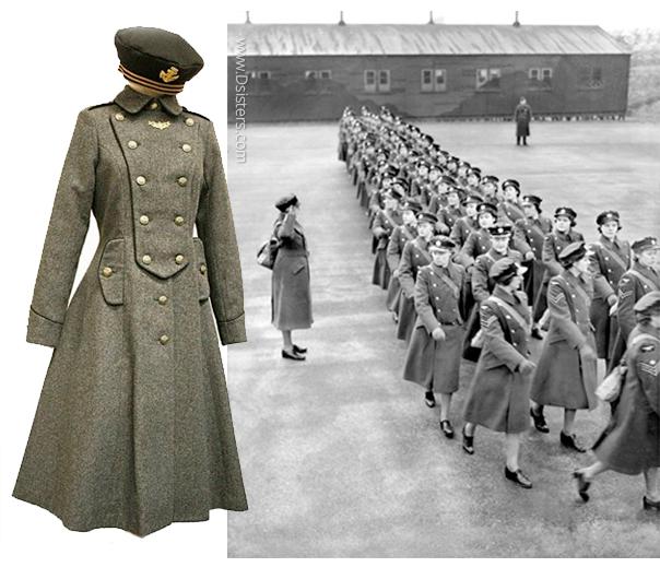 женская военная шинель