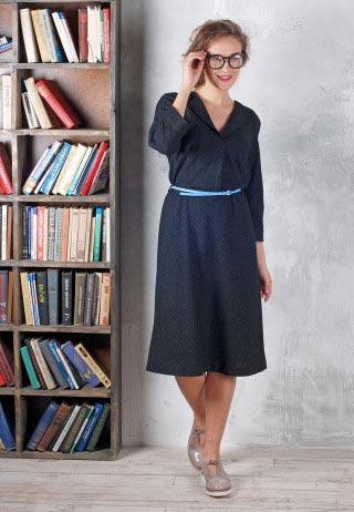Шерстяное платье миди