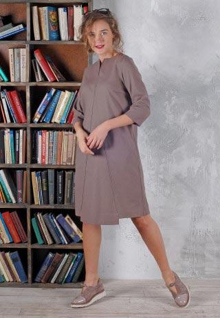 Шерстяное платье лилового цвета
